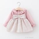 童裝女童公主裙春秋季兒童小女孩小香風裙子長袖嬰兒寶寶秋裝裙子 美眉新品