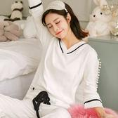 長袖產婦家居服套裝純棉孕婦睡衣韓版喂奶衣