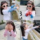 【買一送一】兒童冰袖女童男童夏季卡通冰絲防曬袖套可愛套袖【步行者戶外生活館】