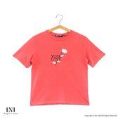 【INI】刺繡甜美、精緻舒適休閒上衣.橙色
