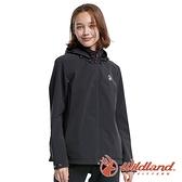 【wildland 荒野】女 三層竹炭膜防風拆帽外套『黑色』0A82911 戶外 休閒 運動 露營 登山 騎車