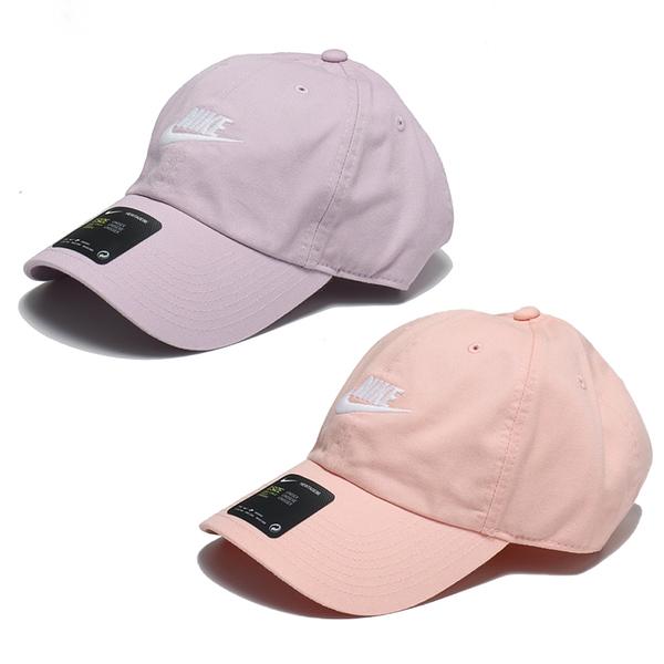 NIKE 運動帽 老帽 FUTURA WASHED CAP 夢幻橘/紫 刺繡LOGO 調整式 休閒 (布魯克林) 913011-