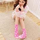 甜美普普風珊瑚絨毛襪