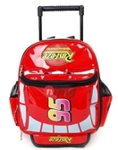迪士尼專櫃汽車總動員麥昆紅色漆皮拉杆箱包幼兒園小朋友書包