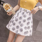 【GZ24】小清新印花半身裙女春夏季新款裙子高腰a字裙包臀裙短裙
