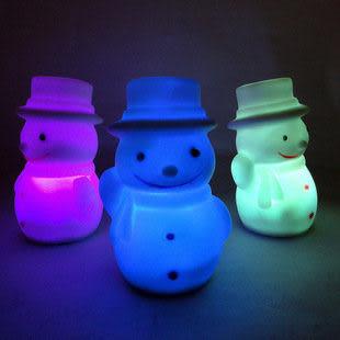 聖誕節七彩變幻小夜燈裝飾禮物 一件3個