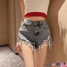 熱賣牛仔短褲 春季2021新款復古港味高腰顯瘦不規則破洞網紅外穿性感牛仔短褲女 coco