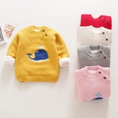 男女童毛衣秋中小童上衣兒童秋裝新款童裝寶寶套頭針織衫秋冬 全館9折起