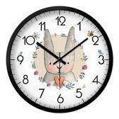 MOMEN/摩門 卡通動物掛鐘個性可愛時鐘兒童房靜音創意鐘錶石英鐘 T 開學季特惠