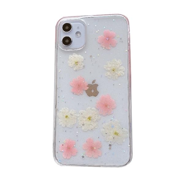 櫻花 花朵 永生真花 滴膠手機殼 防摔殼 iPhone 12 11 Pro Max XR Xs 7/8 SE2 蘋果 手機殼