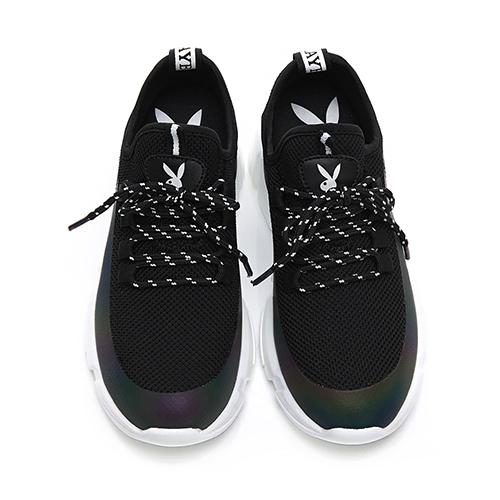 PLAYBOY 炫彩注目襪套式休閒鞋-黑