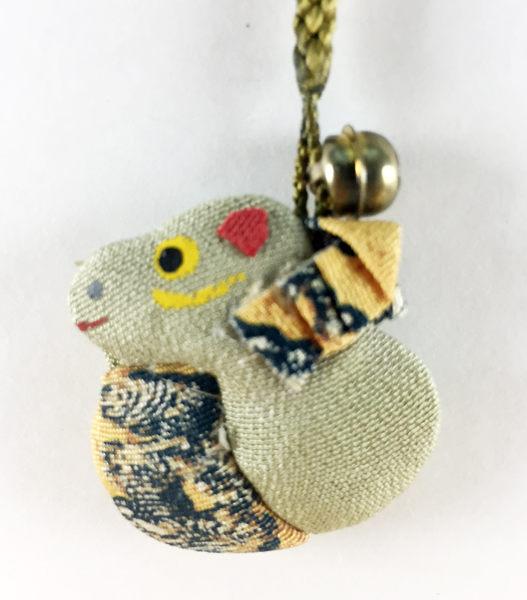【震撼精品百貨】日本手機吊飾~和風布料材質-蛇造型-藏青色