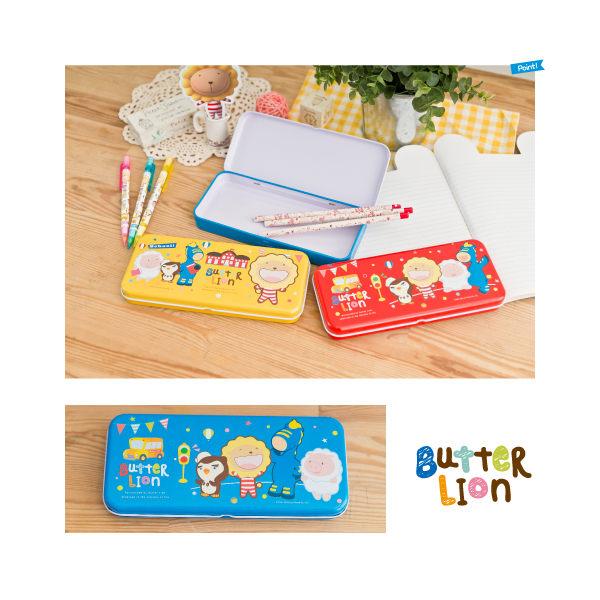 奶油獅好朋友鐵筆盒(開心校園)~~共有3款造型喔!!