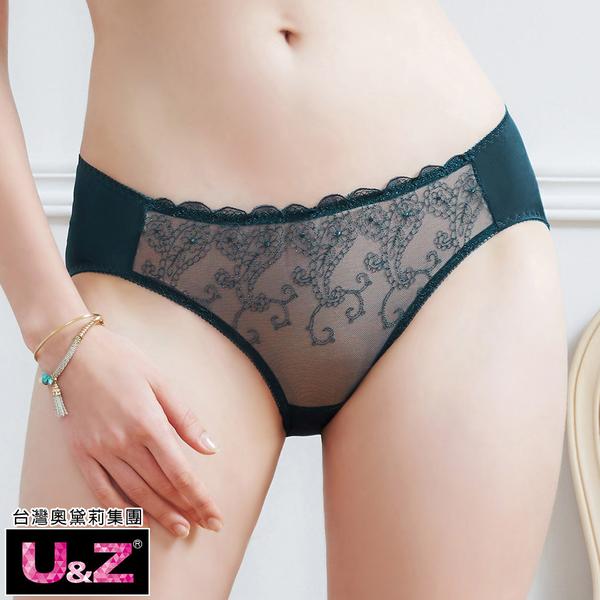 U&Z-奢戀圓舞曲 中腰三角褲(夜影綠)-台灣奧黛莉集團