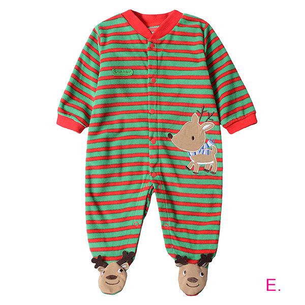 超低折扣NG商品~新生兒秋冬長袖連身衣 搖粒絨嬰兒包腳兔裝 LZ2324 好娃娃