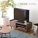【Sato】TWICE琥珀蝕光單抽開放電視櫃‧幅90cm
