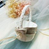 花童籃 西式創意婚禮手提小花籃 婚慶用品道具 花童撒花瓣花籃 莎拉嘿呦