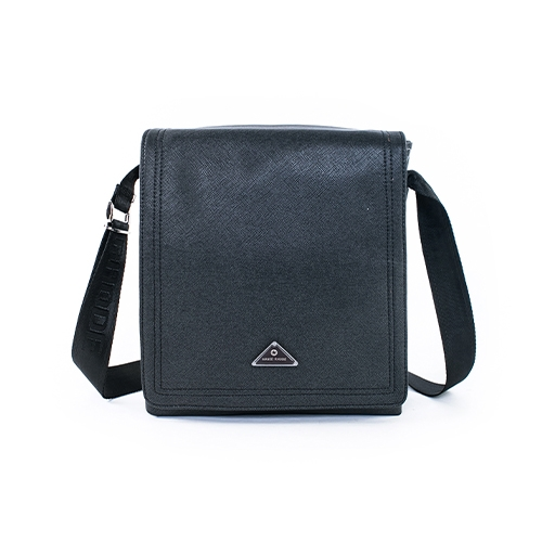 MANDE RHODE - 里米尼 - 硬挺十字紋掀蓋多夾層側背包 - MR-52073