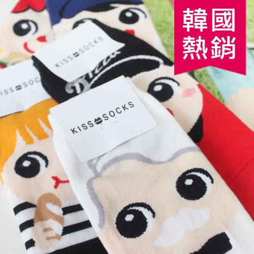 日韓 熱銷 可愛 Q版 Pizza 肯德基女孩 麥當勞女孩 韓國 PAD 麵包 冰淇淋 短襪