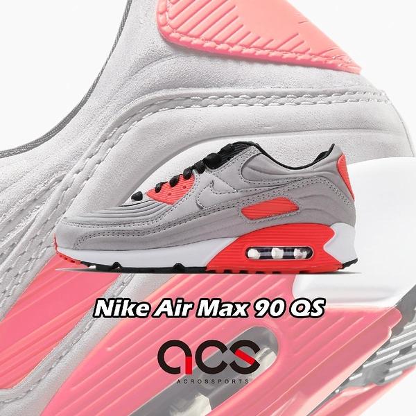 Nike 休閒鞋 Air Max 90 QS Bright Crimson 銀 橘紅 男鞋 氣墊 復古慢跑鞋 【ACS】 CZ7656-001