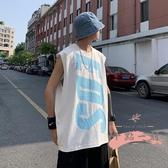 男士背心 背心男夏季寬鬆休閒上衣大碼個性無袖t恤韓版潮流帥氣男裝 LW267