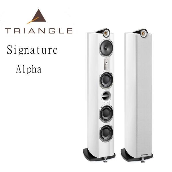 【勝豐群音響新竹】Triangle  Signature Alpha  桃花心木色落地型喇叭(白色/黑色)