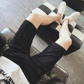 【熊貓】牛仔褲男短褲破洞修身中褲韓版