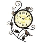 掛鐘 創意鐵藝小鳥掛表歐式復古靜音掛鐘客廳臥室田園藝術簡約鐘表YXS 繽紛創意家居