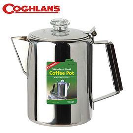 丹大戶外【Coghlans】加拿大 STAINLESS STEEL COFFEE POT 9 CUP 不鏽鋼咖啡壺 9杯 1340