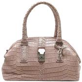 BOTTEGA VENETA  寶緹嘉 粉色鱷魚壓紋手提包 Crocodile Handbag 【二手名牌BRAND OFF】