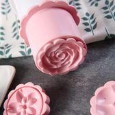 手壓花冰皮月餅模具套裝家用烘焙磨具