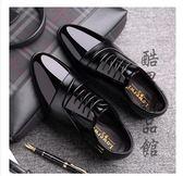 商務正裝皮鞋男士內增高男鞋夏季青年韓版英倫黑色圓頭鞋透氣 酷男精品館