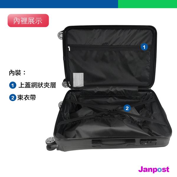 英國熊 British Bear 24吋 ABS防刮 硬殼 行李箱 登機箱 拉鍊型 3段式拉桿 360度旋轉 經典黑