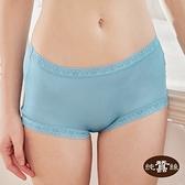 【岱妮蠶絲】100%純蠶絲42針70G寬邊蕾絲高腰三角褲蠶絲內褲(海藍) LA5019E