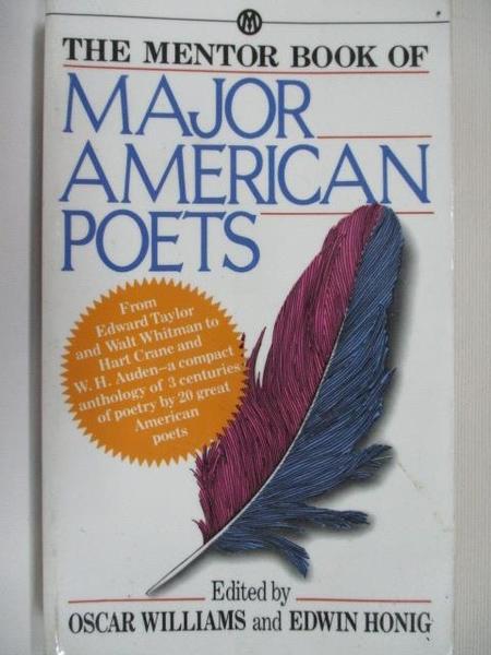 【書寶二手書T3/原文小說_BYZ】Major American Poets