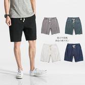 夏季男士短褲休閒亞麻褲子大碼寬鬆日繫五分褲男沙灘褲男褲衩