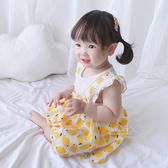 檸檬假兩件吊帶裙包屁衣 連身衣 嬰兒裝