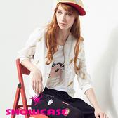【SHOWCASE】珍珠梅花鹿質感棉質T恤(白)