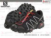 【速捷戶外】法國《SALOMON》 競賽級山俓越野跑鞋 SPEEDCROSS 3 #127609 男-(黑) 體驗價上市~