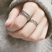 復古戒指個性學生簡約百搭創意開口寬版食指環女