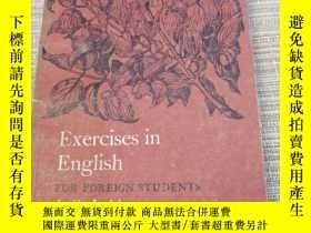 二手書博民逛書店Exercises罕見in englishY16490 j o judd 看圖 出版1963