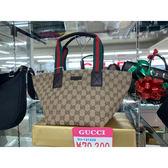[日本公司現貨]Gucci 古馳 經典帆布手提小水餃包