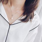 項鏈-鋯石珍珠鎖骨鏈韓國簡約百搭 巴黎春天