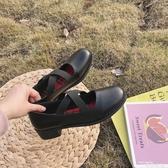 娃娃鞋圓頭軟妹娃娃鞋日系洛麗塔鞋小皮鞋女學生韓版百搭 交換禮物