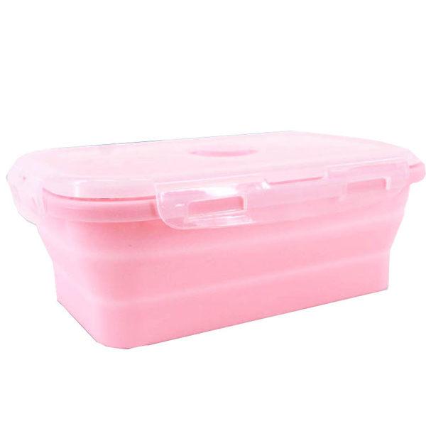 ✿現貨 快速出貨✿【小麥購物】矽膠折疊保鮮盒 食品級矽膠 保鮮盒 環保 便當盒 飯盒【Y487】