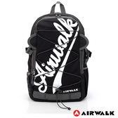 AIRWALK - 斜字LOGO 雙耳綁帶造型AIRWALK後背包 -白黑色
