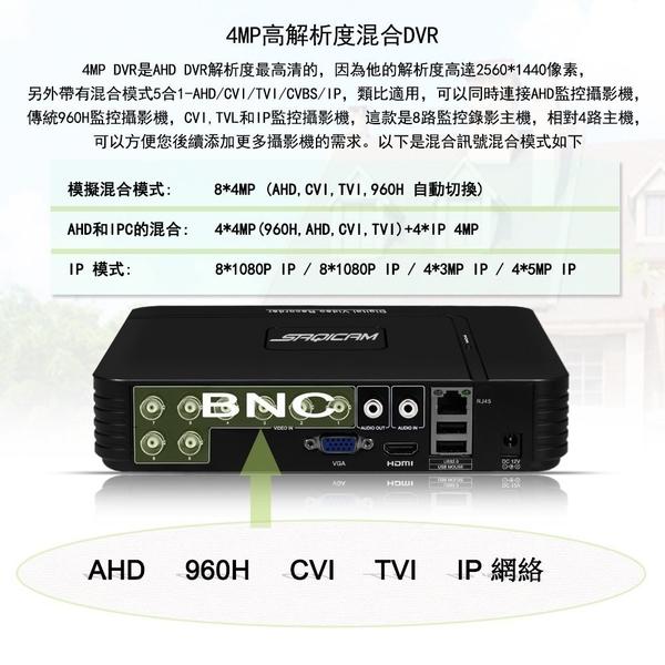 8路1440P AHD監視器主機 4百萬 4MP監控DVR 類比錄影主機 HDMI 手機APP監看 比1080P更高清