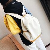後背後背包書包女正韓高中學生校園帆布後背背包旅行包簡約百搭秋季上新