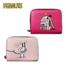【日本正版】史努比 皮質 零錢包 卡片包 Snoopy PEANUTS 017730 017747