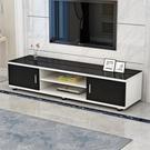 電視櫃電視櫃鋼化玻璃現代簡約茶幾電視機櫃組合客廳小戶型家用臥室地櫃 JD 夏季新品